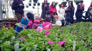 Kids engage with Jodi on horticulture, as their parents pick up a few facts on the side