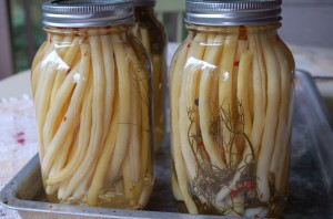 Lovely canned yellow beans provide a memory of summer